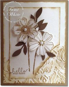 Stampin up Flower Shop stamp set and Pansy Punch