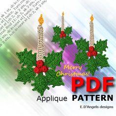 Resultado de imagen para christmas crochet candle
