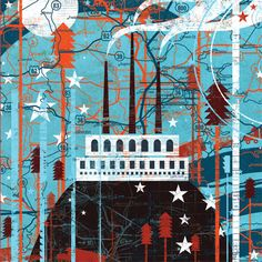 House of Heroes: Suburba 2010, Art Pannels - Illustrations by Andrew Beckman for Boerhaus