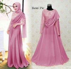 Dress Brokat Modern Muslim New Ideas Dress Brokat Muslim, Dress Brokat Modern, Kebaya Modern Dress, Dress Pesta, Kebaya Muslim, Muslim Dress, Hijab Evening Dress, Hijab Dress Party, Hijab Style Dress