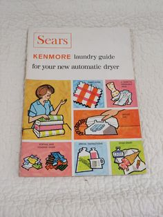 Kenmore Dryer Sears Laundry guide Vintage by rarefinds4u on Etsy
