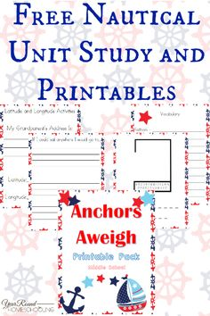 Free Nautical Unit Study and Printables (Middle School) - http://www.yearroundhomeschooling.com/free-nautical-unit-study-and-printables-middle-school/
