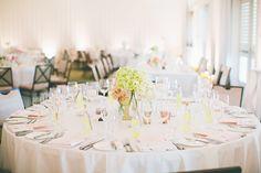 Simple Ballroom Wedding Reception - A modern vineyard wedding at The Carneros Inn in Napa Valley