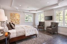 Mill Valley Estate - traditional - bedroom - san francisco - by KCS, Inc.