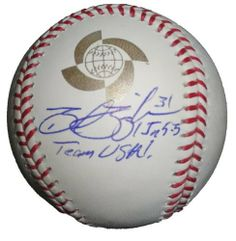 "Brad Ziegler Autographed 2009 World Baseball Classic Game Ball, Team USA, Arizona Diamondbacks, Oakland Athletics, Proof Photo by Southwestconnection-Memorabilia. $54.99. This is a Brad Ziegler autographed Rawlings 2009 World Baseball Classic official game baseball. Brad signed the ball in blue ballpoint pen, and inscribed the ball ""Team USA!"". Check out the photo of Brad signing for us. Proof photo is included for free with purchase. Please click on images to enlarge."