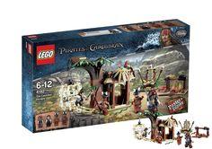 Lego Piratas del Caribe. La Huida del Poblado Caníbal 4182 Espectacular pack de construcción Lego del Poblado Caníbal, basado en la saga Piratas del Caribe.