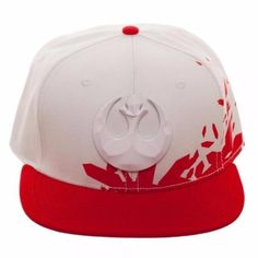 ab967346ec1 Resist tyranny and authority throughout the galaxy in this red-and-white  Resist Icon Metal Embroidery Acrylic Wool Snapback cap.