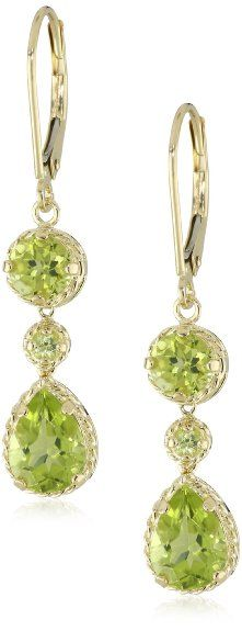 Yellow Gold Pear-Shaped Peridot D… Peridot Jewelry, Peridot Earrings, Dangle Earrings, Jewelry Box, Jewelery, Fine Jewelry, Gems And Minerals, Bridal Earrings, Gemstone Colors