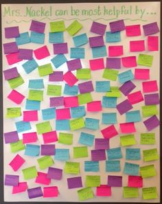 First Day of Middle School  I ask my students this each year...their answers are always honest. Using a sticky note is a great way to help make ideas concrete!