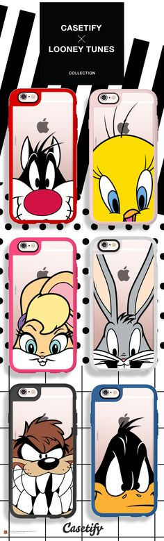 The whole #CASETIFYxLOONEYTUNES crew! Shop link here: http://www.casetify.com/collections/looney_tunes