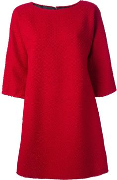 Dolce Gabbana Boat Neck Dress - Lyst