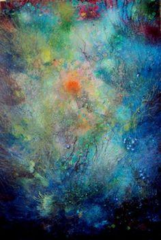 "Saatchi+Art+Artist+Khusro+Subzwari;+Painting,+""Hidden+Beauty+1""+#art"