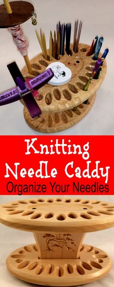 Knitting Needle Caddy to keep Knitting Needles organized. What an awesome gift idea.