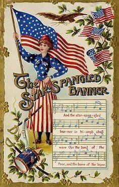 Vintage Patriotic Card ~ Star Spangled Banner