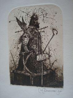 "#art Oleg DENISENKO -- EX LIBRIS -- ""Warrior Angel"" - Rare please retweet"