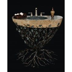 Quiescence VAN-EMB-2532 Embracious Aspen Forest Iron Vanity with Integrated