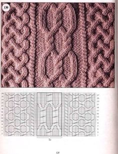 Traditional Aran Knitting Patterns - Crochet and Knit Cable Knitting Patterns, Crochet Baby Hat Patterns, Knitting Stiches, Knitting Charts, Knit Patterns, Free Knitting, Stitch Patterns, Knit Stitches, Baby Patterns