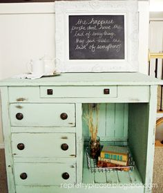 {re}pretty please -- utah furniture refinishing: Minty Goodness -- color is martha stewart sea glass