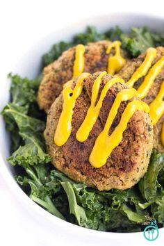 Baked Quinoa Falafel with a healthy Turmeric-Tahini Sauce. If high oxalate, try subbing out the tahini
