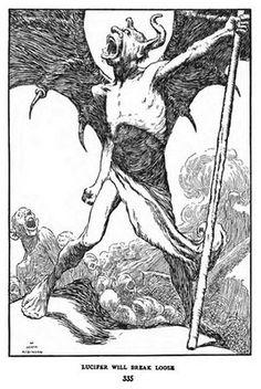 William Heath Robinson Lucifer illustration