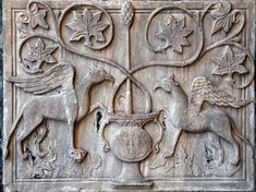 A fragment of decoration of the Cathedral of San Marco in Venice (Venezia).