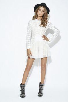 Lace Tuille Mini Dress