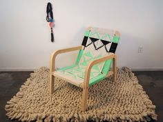 Macramé Palapa Lounge Chair by Pacific Wonderland --Mercado Kneeland Co.