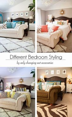 Our bedroom over time: Different Bedroom Styling by only changing out accessories