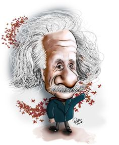Albert Einstein (Caricature) Dunway Enterprises - http://www.learn-to-draw.org/caricatures_clb.html?hop=dunway