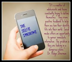 Dr. Robyn Quote about 'selfies' of teenagers on social media
