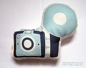 Cute room accent: Camera Brownie #Pillow #etsy #camera