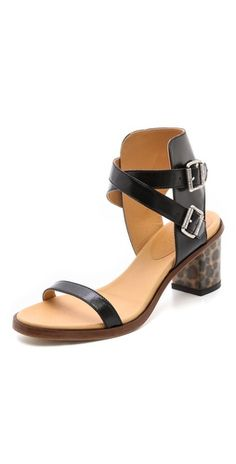 MM6 Maison Martin Margiela Leopard Heel Sandals   SHOPBOP