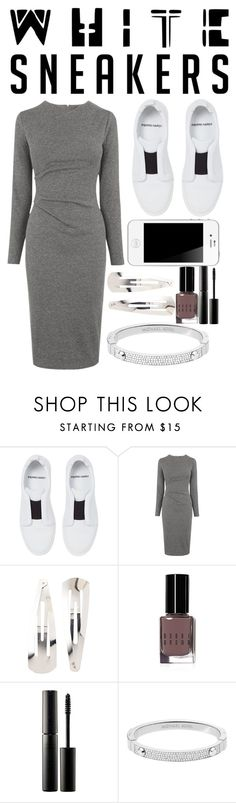 """""""White sneakers"""" by ines-lynch ❤ liked on Polyvore featuring Pierre Hardy, Whistles, Adia Kibur, Bobbi Brown Cosmetics, Surratt and Michael Kors"""