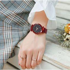 Are you a stylish, dazzling person?Then this watch is crafted for you!Shine and sizzle wherever you go with this Starry sky design watch.Built with a shining sky dial and shimmering power, it will change colours according to the lights. Under the bright sun or while at a night party, this watch can change its colours and steal the show.Its analogue quartz movement ensures accurate and precise time-keeping that allows you to stay ahead of others punctually and has a professional waterproof desig Sky Watch, Gold Diamond Watches, Mesh Band, Stainless Steel Mesh, Diamond Design, Fashion Watches, Girl Watches, Quartz Watch, Watch Bands