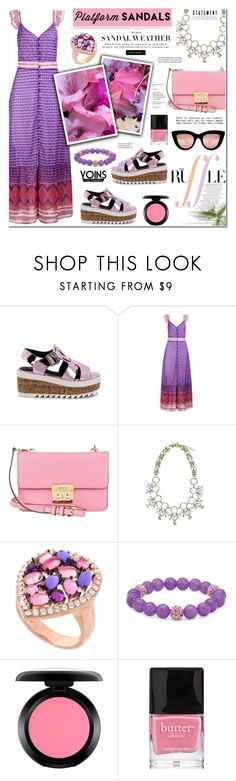 """""""Platform Sandals - Yoins 7"""" by anyasdesigns ❤ liked on Polyvore featuring Michael Kors, Palm Beach Jewelry, MAC Cosmetics, Butter London and Quay"""