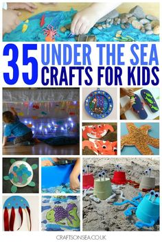 35 inspirational under the sea crafts for kids. Includes sensory play shark crafts fish crafts mermaids crabs dolphins and loads more! Kids Crafts, Summer Crafts, Toddler Crafts, Preschool Crafts, Preschool Christmas, Christmas Crafts, Christmas Christmas, Under The Sea Crafts, Under The Sea Theme