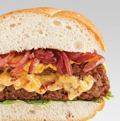 A burger stuffed with gouda and bacon. End of story.