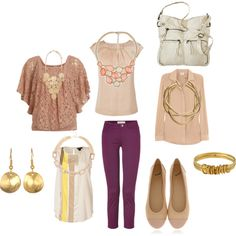 """""""Styling Purple Jeans"""" by radsstylebook on Polyvore"""