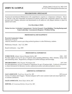 phlebotomist resume phlebotomy technicians resume sampe http
