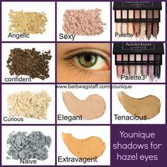 What colors make your eyes pop? Splurge Cream Shadows, Moodstruck Mineral Pigments, and Addiction Shadow Palletes, for all eye colors...