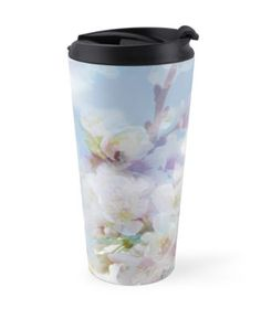 """""""Heart's Delight"""" Travel Mugs by PolkaDotStudio 