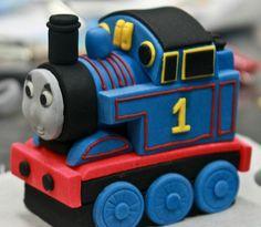 Thomas the tank engine (sideview) Thomas Tank Engine Cake, Thomas The Tank Cake, Thomas The Train, Thomas Birthday Cakes, Thomas Cakes, Trains Birthday Party, 2nd Birthday, Baby Boy Cakes, Cakes For Boys