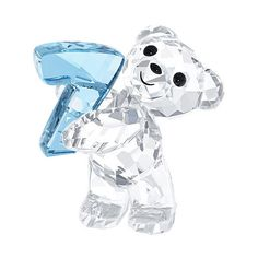 Swarovski Kris Bear - Number Seven (86 CAD) ❤ liked on Polyvore featuring home, children's room and children's decor