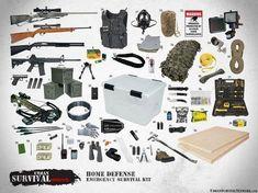 Home Defense Emergency Survival Kit | Urban Survival Network #UrbanSurvivalPrep