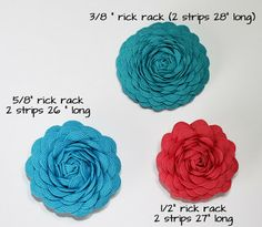 Ideas for Scrapbookers: Make your own Rick Rack Flower!  {Hair Accessory or a pin/brooch}
