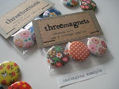 button + magnet packaging by imaginary animal, via Flickr
