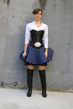 Han Solo Costume Star Wars More  sc 1 st  Pinterest & Female Han Solo -Star Wars- Cosplay Outfit by DarlingArmy on ...