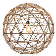 Binthout Bollelamp ø100cm - blank hout - afbeelding 1
