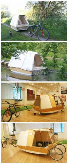 Unique Nomadic Water Bed on wheels lets you camp on urban rivers