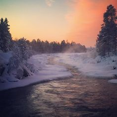 Juutuanjoki. By paarmadesign. Lapland Finland.